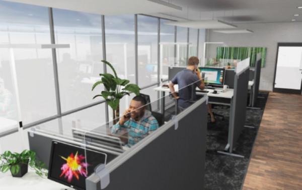 Preform Doppelarbeitsplatz Stellwand