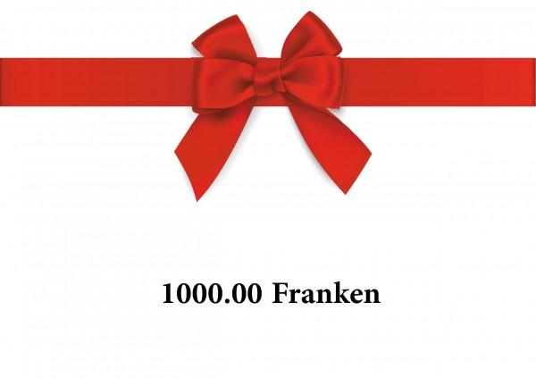 Gutschein 1000 Franken