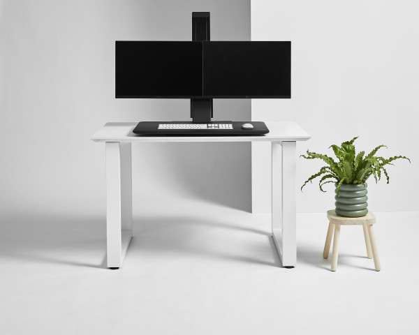 QuickStand Eco Doppelmonitor weiss