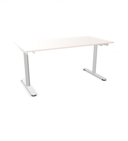 line'desk T-Fuss Tisch Rondo fixe Höhe