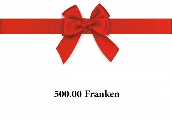 Gutschein 500 Franken