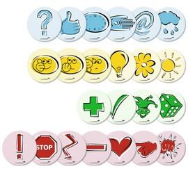 Kolok Moderationskarten Emoticons sortiert