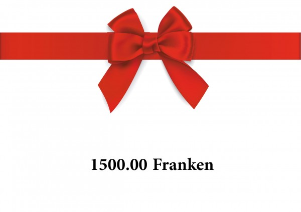 Gutschein 1500 Franken
