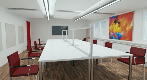 Tischaufsatzelement mit Acrylglas