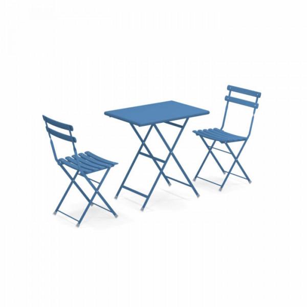 Arc en Ciel 2 Stühle mit Klapptisch 70x50
